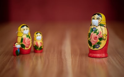 russian dolls social distancing