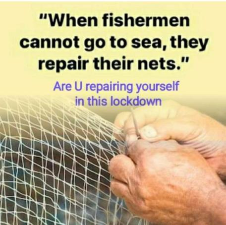 fishermen repair nets quote
