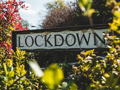 lockdown sign flowers