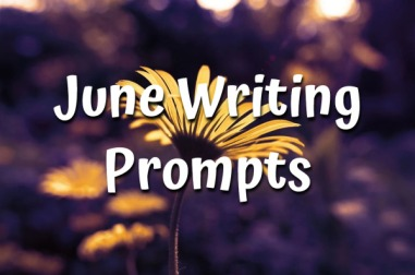 June writing prompts badge