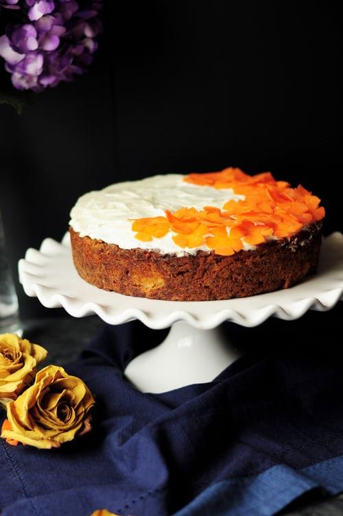 carrot cake white platter
