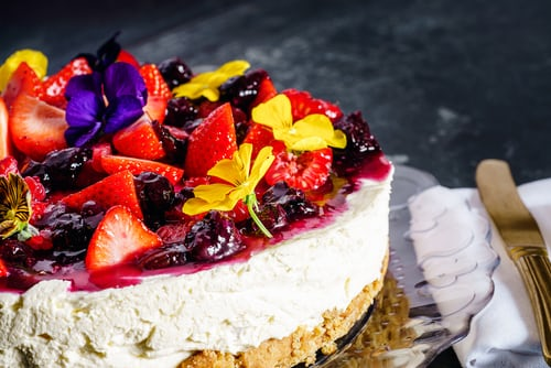 cheese cake fruit topping