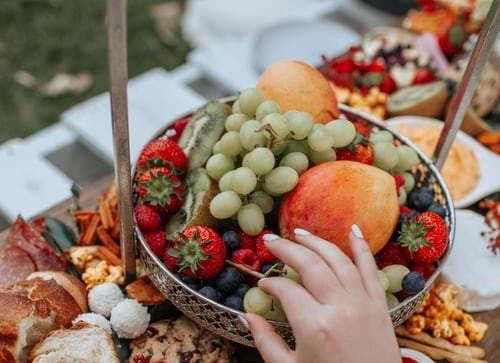 fruit at picnic