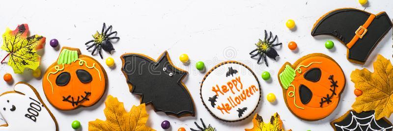 Halloween cookie banner