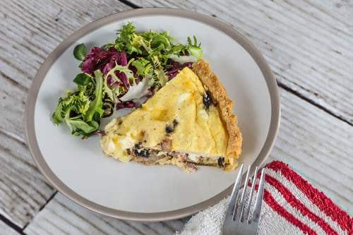 quiche slice salad
