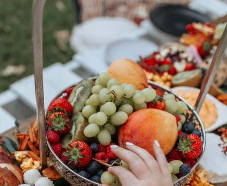 fruit at picnic