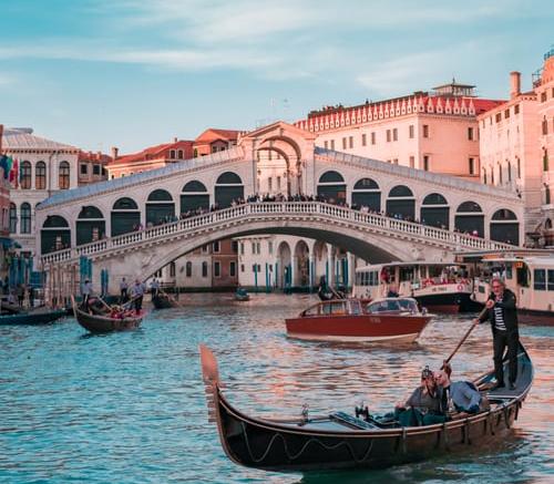 bridge canal boat